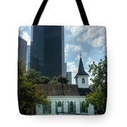 Old And New Houston Tote Bag