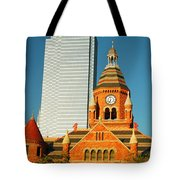 Old And New In Dallas Tote Bag