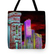 Old And New Seattle Tote Bag