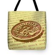 Old Aquarius Astrology Tote Bag
