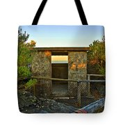 Old Army Lookout In Sunset Hour Tote Bag