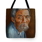 Old Asian Worker Tote Bag