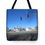 Old Automotive Service Station Tote Bag