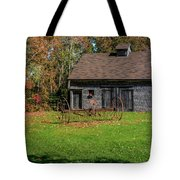Old Barn And Rusty Farm Implement 01 Tote Bag