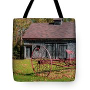 Old Barn And Rusty Farm Implement 02 Tote Bag
