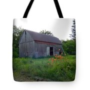 Old Barn At Dusk Tote Bag