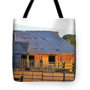 Old Barn At Sunset Tote Bag