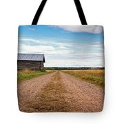 Old Barn By The Gravel Road Tote Bag