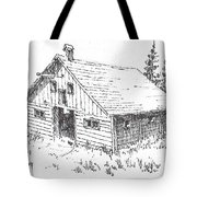Old Barn Cable Ghost Town Montana Tote Bag