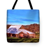 Old Barn In California Tote Bag