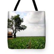 Old Barn In Sugar Cane Field Tote Bag