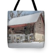 Old Barn In Upper Roxborough In The Snow Tote Bag