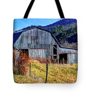 Old Barn In West Virginia Mountains 4836 Fusedt Tote Bag