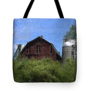 Old Barn On Summer Hill Tote Bag