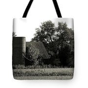 Old Barn Outbuildings And Silo  Tote Bag