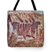 Old Barn Outhouse Falling Apart In Decay And Dilapidation Rotting Wood Overgrown Mountain Valley Sce Tote Bag