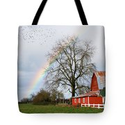 Old Barn Rainbow Tote Bag