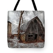 Old Barn Winter Tote Bag