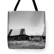 Old Barn With Tree Tote Bag