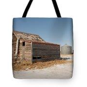 Old Barns And A Grain Bin Tote Bag