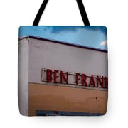 Old Ben Franklin Store 2 #vanishingtexas Rosebud Tote Bag