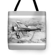 Old Bi Plane Tote Bag