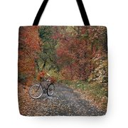 Old Bike In Autumn Tote Bag