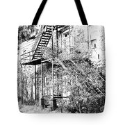 Old Black And White House  Tote Bag