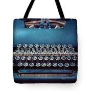 Old Blue Typewriter Tote Bag