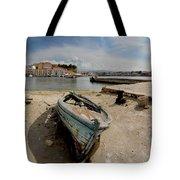 Old Boat In Crete Tote Bag