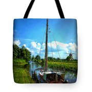 Old Boat In Holland Tote Bag