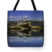 Old Boat Reflection Tote Bag