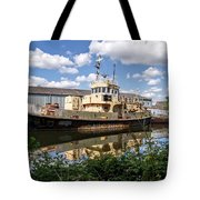 Old Boats Along The Exeter Canal 2 Tote Bag