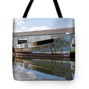 Old Boats Along The Exeter Canal Tote Bag