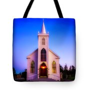 Old Bodega Church Sunset Tote Bag