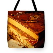 Old Books And Glasses Tote Bag
