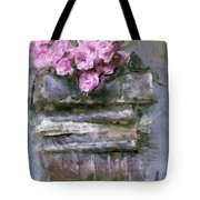 Old Books And Pink Roses Tote Bag