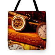 Old Books And Pocket Watches Tote Bag