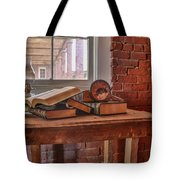 Old Books In Old Classroom Tote Bag