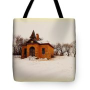 Old Brick Schoolhouse In Winter Tote Bag
