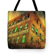 Old Empty Building In Retro Colors Tote Bag