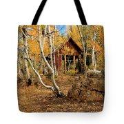 Old Cabin In The Aspens Tote Bag