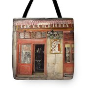 Old Cafe- Santander Spain Tote Bag by Tomas Castano