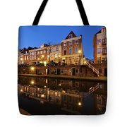 Old Canal In Utrecht At Dusk 211 Tote Bag