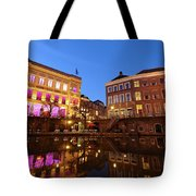 Old Canal In Utrecht In The Evening 4 Tote Bag