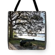 Old Cannon By The Sea Tote Bag