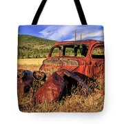 Old Car At Susanville Ranch Tote Bag