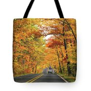 Old Car Tour To Copper Harbor Tote Bag