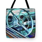 Old Car Wheel Tote Bag