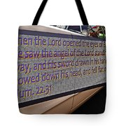 Old Car With Text Tote Bag